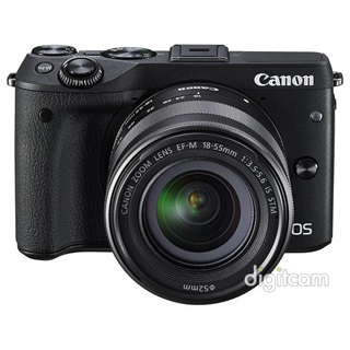 Canon EOS M3 + EF-M 18-55mm IS STM + EVF-DC1 keres