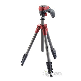 Manfrotto Compact Action Red alumínium állvány - piros