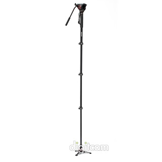 Manfrotto XPRO 4 section video monopod w Fluid head & FLUIDTECH base (MVMXPRO500)