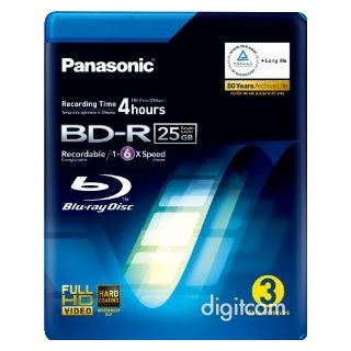 Panasonic Blu-Ray Disc (3db/csomag)