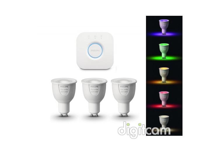 philips hue starter kit 3 set gu10 white and color ambiance bridge inform ci k v s rl s. Black Bedroom Furniture Sets. Home Design Ideas