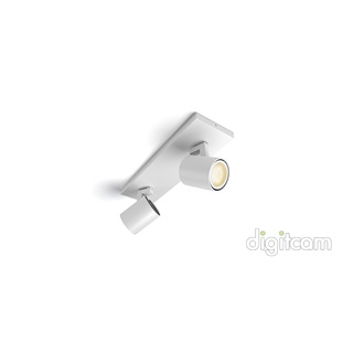 Philips Runner Hue bar/tube white 2x5.5W GU10 White Ambiance spot + DIMSwitch 5309231P7