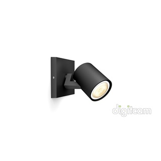 Philips Runner Hue single spot black 1x5.5W GU10 White Ambiance spot + DIMSwitch 5309030P7
