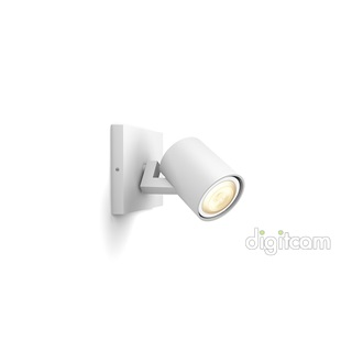 Philips Runner Hue single spot white 1x5.5W GU10 White Ambiance spot + DIMSwitch 5309031P7