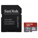 SanDisk Micro SDHC 16GB Mobile Ultra CL10/A1 98MB/s + adapter + Android APP