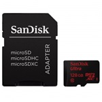 SanDisk microSDXC 128GB Mobile Ultra CL10 80MB/s + adapter + Android APP