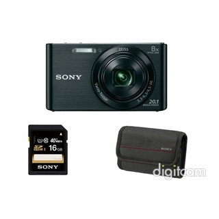 Sony Cyber-Shot DSC-W830B+16GB+tok kit - fekete