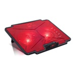 "Spirit of Gamer Notebook Hűtőpad 15,6""-ig - AIRBLADE 100 RED (2x12cm, LED, 2xUSB2.0)"