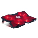 "Spirit of Gamer Notebook Hűtőpad 17""-ig - AIRBLADE 500 Red (4x12cm, LED, 2xUSB2.0)"